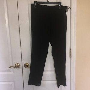 Calvin Klein women black tuxedo straight leg pant